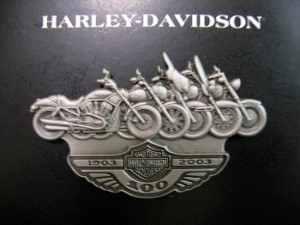 Harley Davidson Pin with Motorcycles
