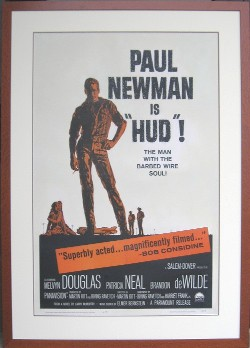 Movie Poster from HUD with Paul Newman
