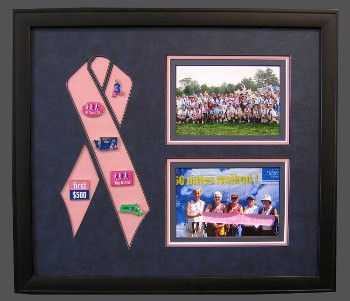 Commemorative Breast Cancer with 2 Pictures.